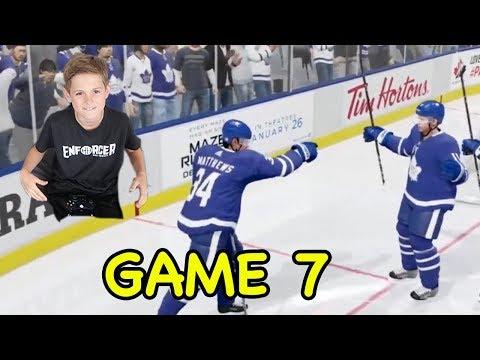 Game 7 Toronto Maple Leafs vs Boston Bruins EA Sports NHL 18