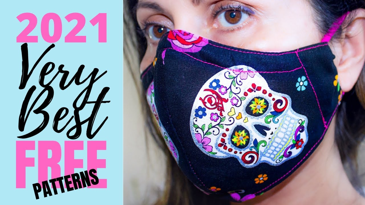 The Very Best Fitted Fabric Face Mask with Filter & Removable Nose Support [IMPROVED] FREE PATTERNS