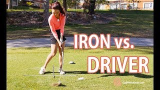 Iron vs. Driver | Golf with Aimee