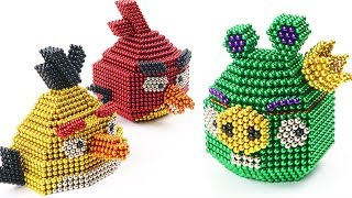 DIY How To Make Angry Birds Chuck with Magnetic Balls | The Most Satisfying Video