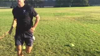 Скоростное ведение мяча на каждый шаг по прямой