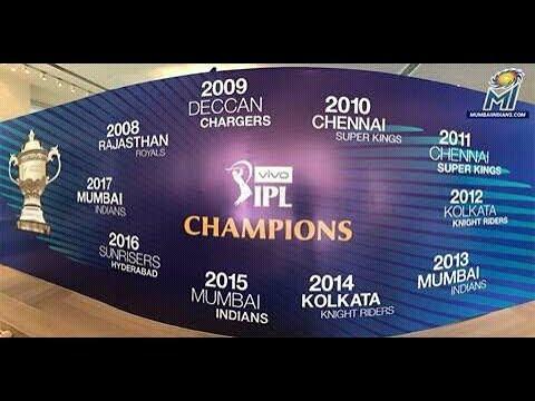 IPL all seasons winner list (2008-2017) My Cric News my cric news