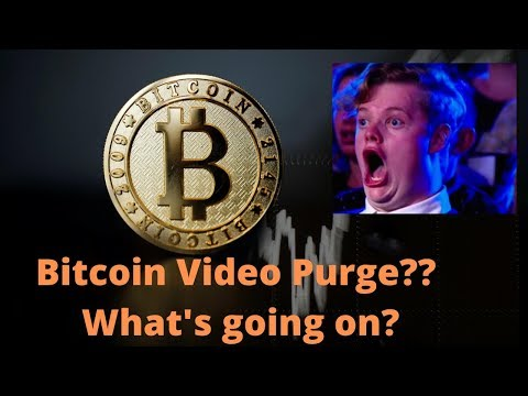 YouTube's Bitcoin and Crypto related video purge….What is happening?