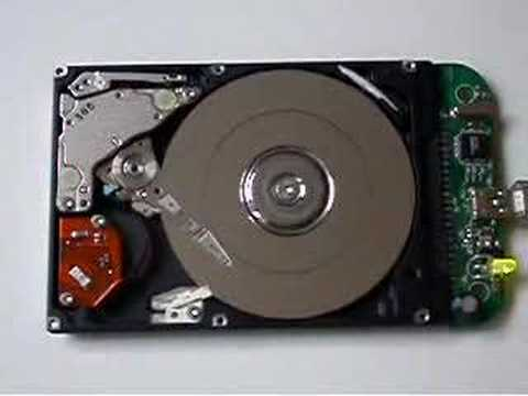 open Hard Disk Drive - showing Head Crash