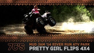 Hot Girl Flips 4x4 at Mud Jam 2014