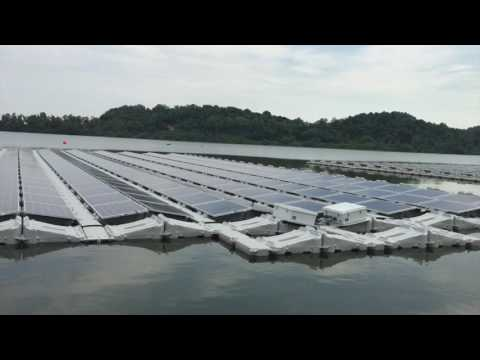 World's largest floating solar test-bed in Singapore