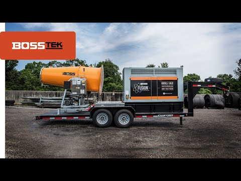 Power mobile dust suppression cannon / genset package: DB-100 Fusion