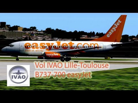 Vol IVAO Lille-Toulouse easyJet 737-700