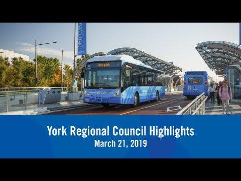 York Regional Council Highlights March 2019
