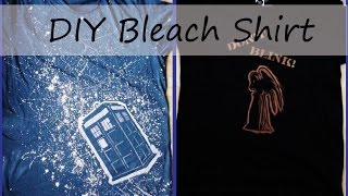 DIY Bleach Shirt - Gift Idea