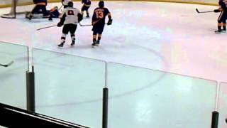 Taylor Vickerman - Nice Hit - Cleveland Barons U16 vs. LA Jr. Kings - Sep 2011