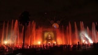 World of Color Celebrate Disneyland ride sequence - Haunted Mansion, Tiki Room, Pirates