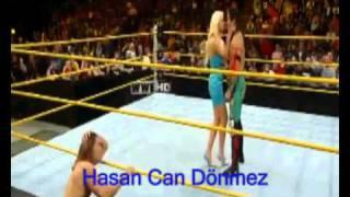 WWE NXT 4 12 11 - Maryse Kiss Yoshi Tatsu.