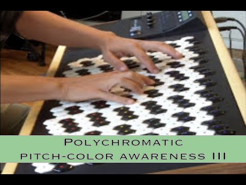 Polychromatic pitch-color awareness: intervals - 72 edo