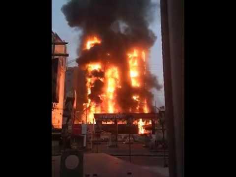 Fire at GV mall Boring road, patna