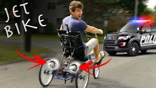 DIY JET BIKE GOES WAY TOO FAST - COPS CALLED (Pulled over) thumbnail
