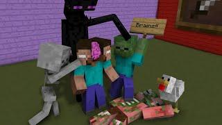 Monster School: ENDERMAN LIFE (Minecraft Animation)
