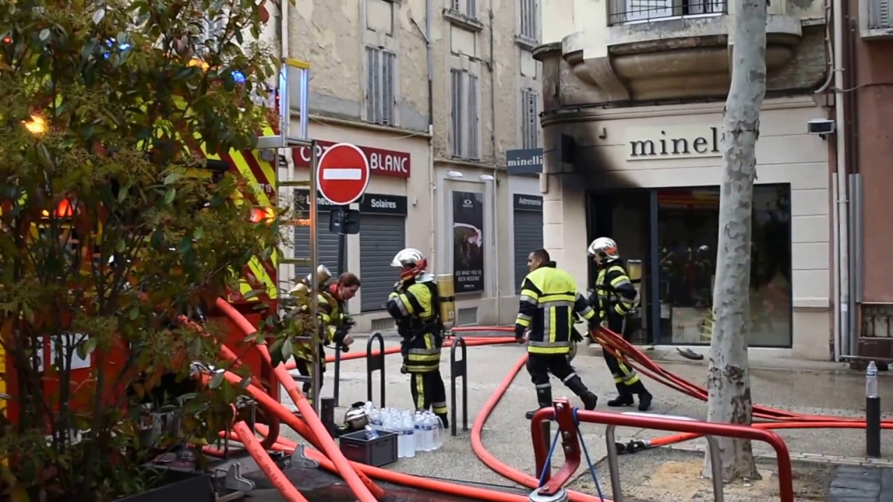 Incendie en centre-ville de Salon de Provence