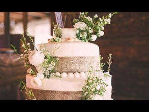 burlap-flowers-on-wedding-cake