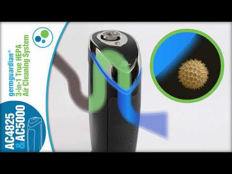 Germ Guardian AC4825 and AC5000 Air Purifiers with UV-C Technology