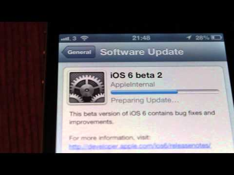 iOS6 Beta 2 Animated Software Update gears