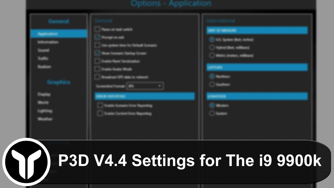 P3D V4 4] My P3D Settings for the i9-9900k | 60fps Smooth