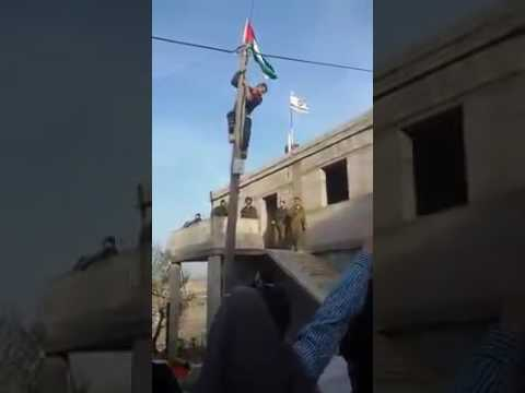 Arab response to IDF placing a national flag (Media Resource Group)