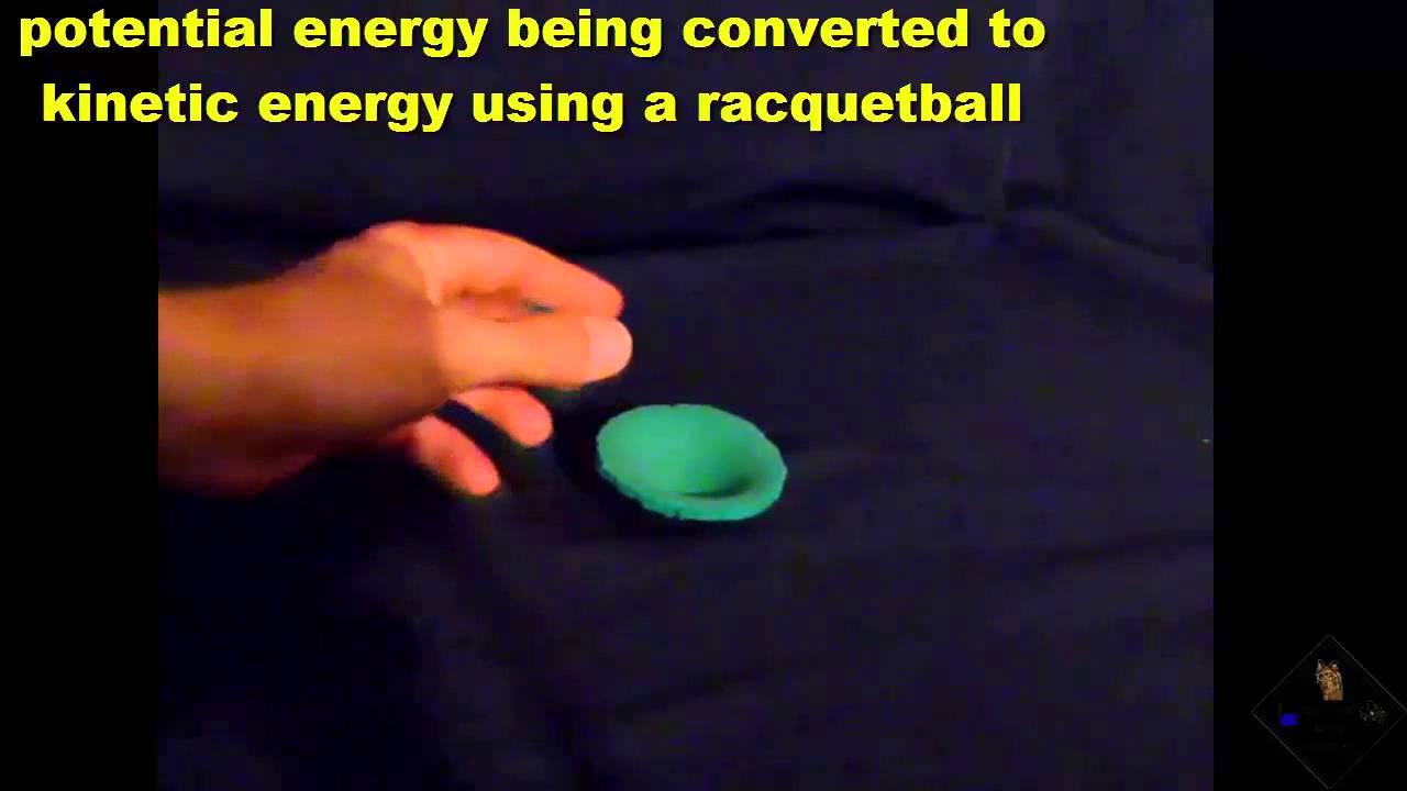 Kinetic Energy Video Potential To Kinetic Energy And A Racquetball A Science With
