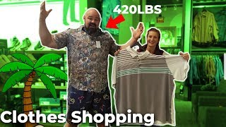 TRYING TO FIND CLOTHES THAT FIT | 6'8'' 420LBS