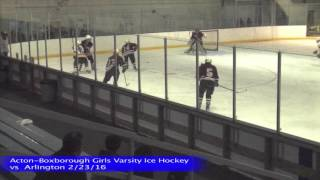Acton Boxborough Girls Ice Hockey vs Arlington 2/23/16