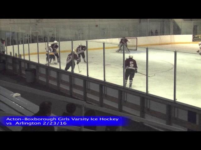 Acton Boxborough Girls Ice Hockey vs Arlington 2/23/16