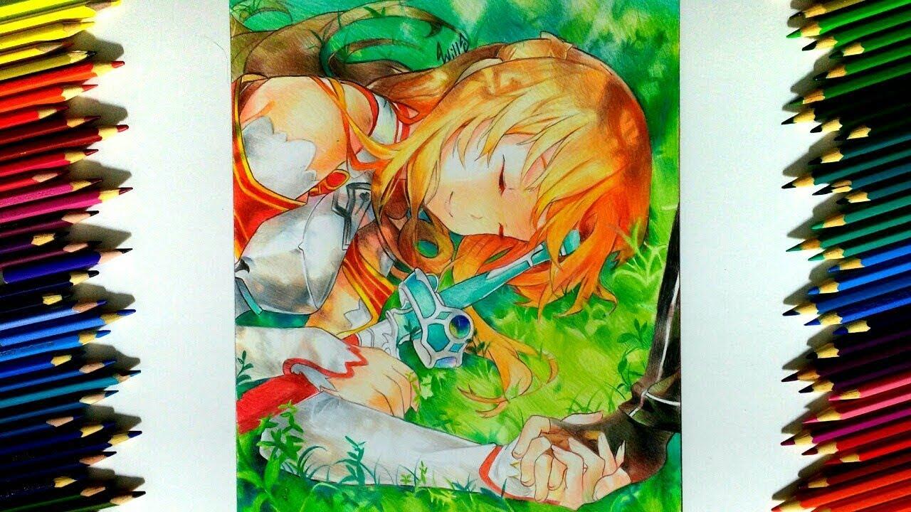 Drawing - Asuna yuuki ( Sword art online ソードアート・オンライン )