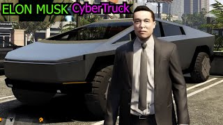 homepage tile video photo for ELON MUSK drives the CYBERTRUCK in GTA V