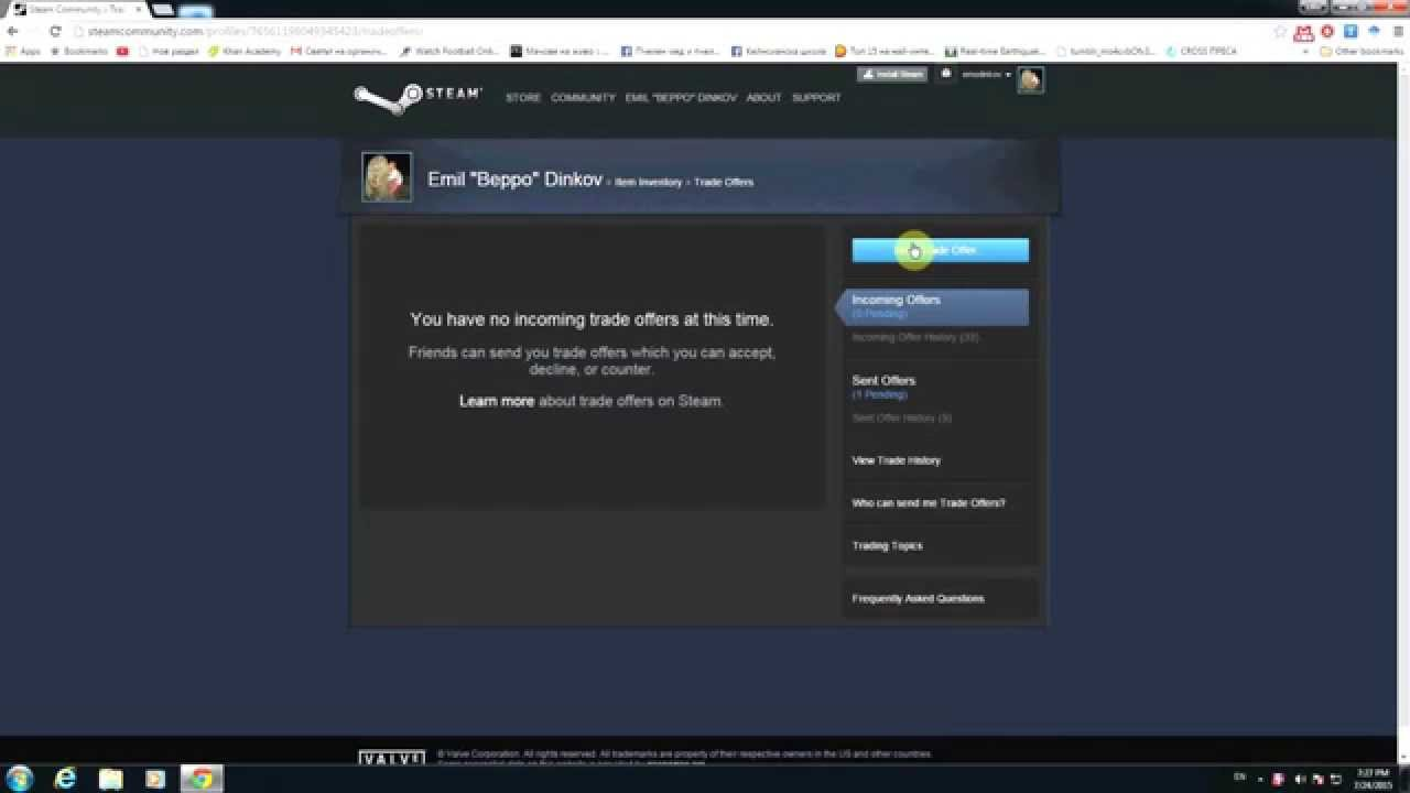 How to find your steam trade offer link - YouTube