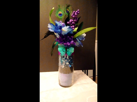 peacock wedding centerpiece diy part 1 month of love day 4 youtube rh youtube com Peacock Wedding Signature Drink Peacock Color Wedding Cake