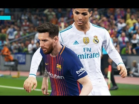 [HD] Messi vs Real Madrid - Gameplay PES 2018 Solo Superstar
