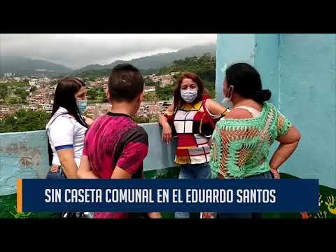 Bajo el sol y la lluvia la comunidad del Eduardo Santos realiza actividades sociales