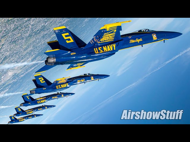 Blue Angels Aerial Footage - INSIDE the Demo!
