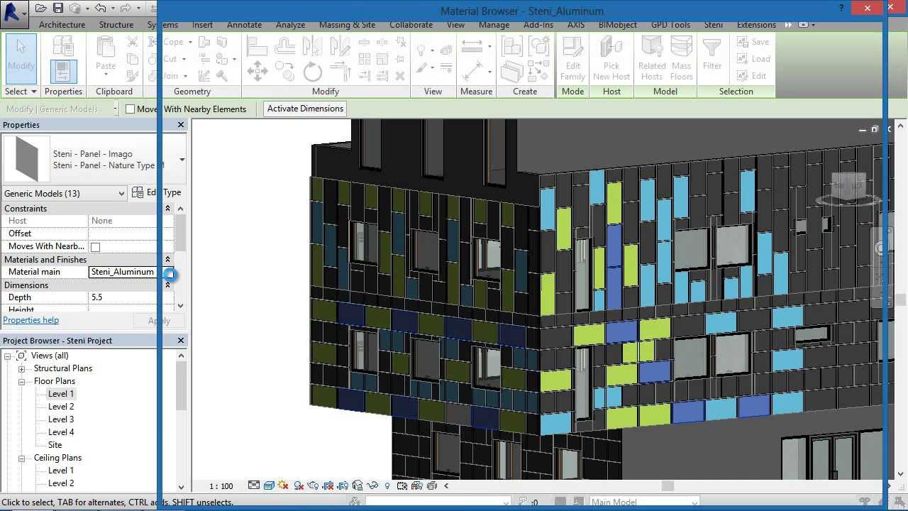 Bimobject 174 Steni Facade Cladding System For Revit Step By