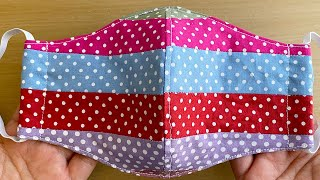 Patchwork New Style Pattern Mask Face Mask Sewing Tutorial How to Make a Face Mask Mascarilla