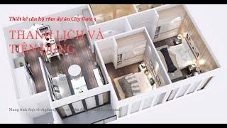 Nhà Mẫu căn hộ City Gate 3 căn 81m2 - 2 phòng ngủ