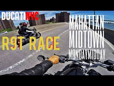 BMW R9T STREET RACE - Manhattan Midtown Monday Midday Ride - v232