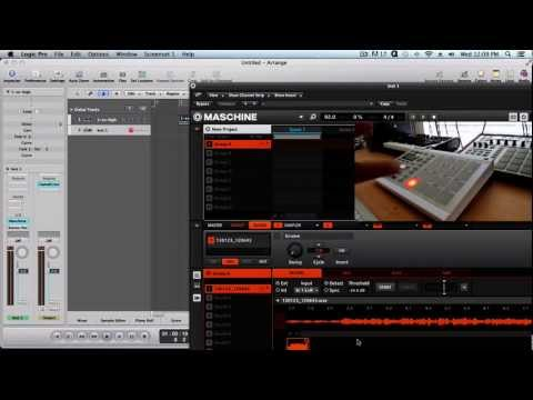 Tip: How to Sample mp3 files into Maschine using Logic Pro