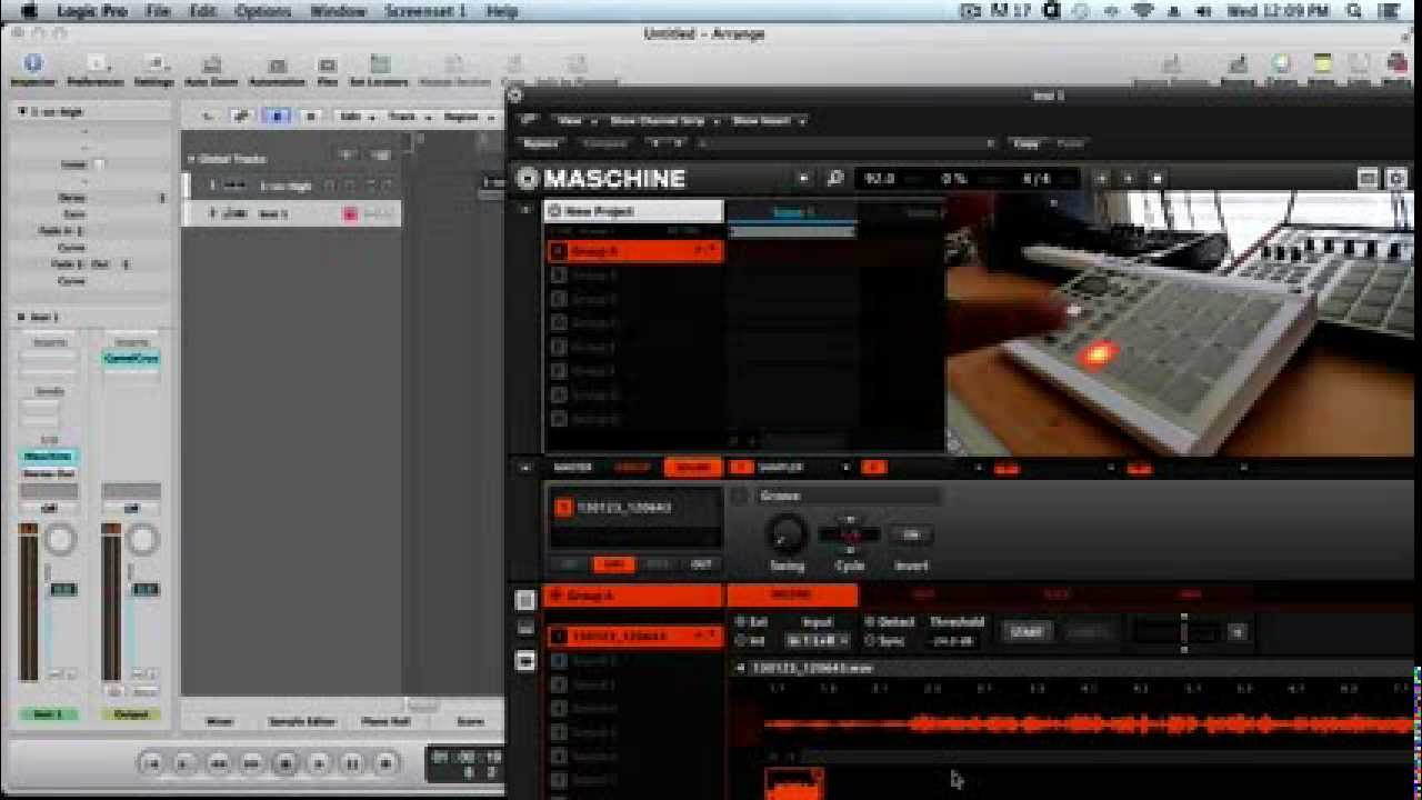 Tip: How to Sample mp3 files into Maschine using Logic Pro - YouTube