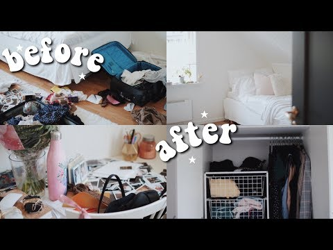CLEANING AND ORGANIZING MY ROOM! clean with me 2019!
