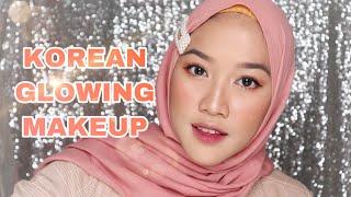 KOREAN GLOWING (SIMPLE) MAKEUP TUTORIAL | Wellisna Merduani