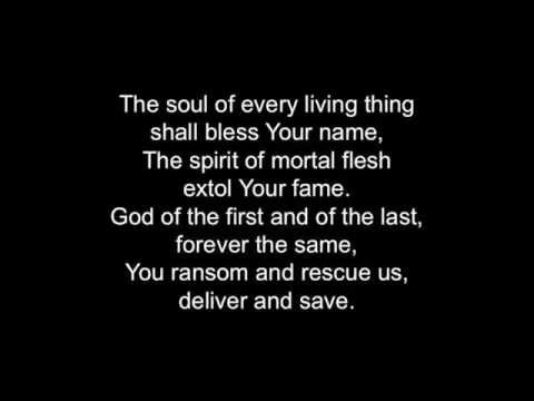 Nishmat Kol Chai (The Soul of Every Living Thing) - Lyrics