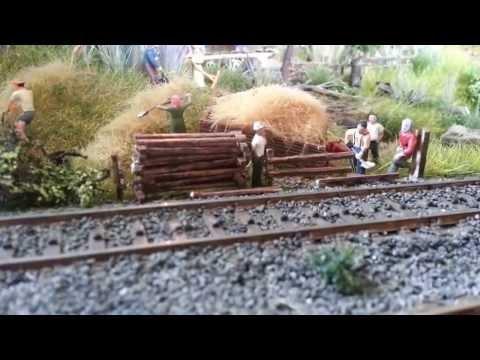 Building realistic Model Train Diorama / Modelleisenbahn HO Diorama / BR 103