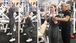 Юля. Упражнения в тренажерном зале для девушек. Кардионагрузка