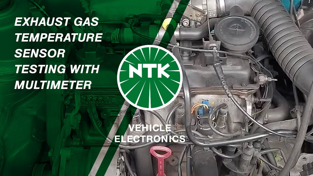 hight resolution of exhaust gas temperature sensor testing with multimeter